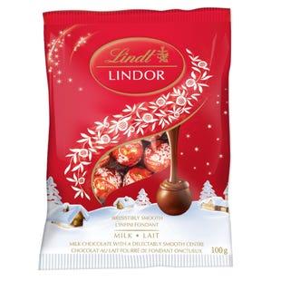 Lindt LINDOR Mini Milk Chocolate Balls, 100-Gram Bag