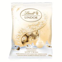 Lindt LINDOR Mini White Chocolate Balls, 100-Gram Bag