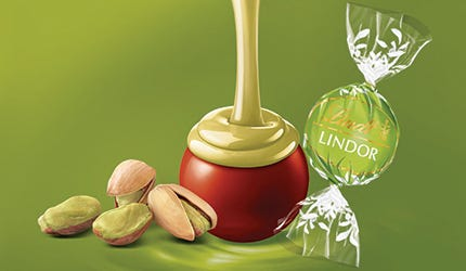 Truffes aux pistaches LINDOR (1 = 25 truffes)